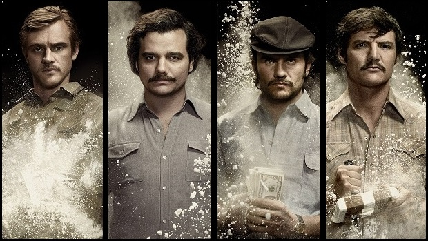 From Left to Right - Boyd Holbrook, Wagner Moura, Juan Pablo Raba, Pedro Pascal, Credit: Netflix/Juan Pablo Gutierrez
